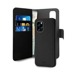 Puro funda wallet Apple iPhone 11 Pro carcasa extraible neg ra