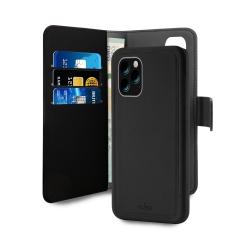 Puro funda wallet Apple iPhone 11 Pro Max carcasa extraíble  negra