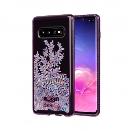 Tech21 carcasa Pure Print Liberty Shangri-La Burgundy Samsung Galaxy S10 Plus roja
