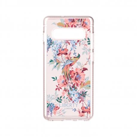 Tech21 carcasa Pure Print Liberty Delphine Samsung Galaxy S10 Plus rosa