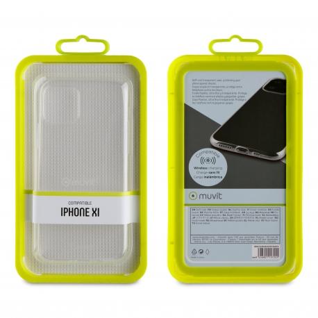muvit funda Cristal Soft Apple iPhone 11 Pro ultra fina transparente