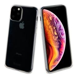 muvit pack Apple iPhone 11 Pro Max funda Cristal Soft transparente + protector de pantalla vidrio templado plano