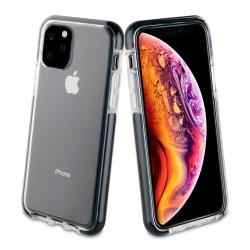 muvit Tiger funda Soft Apple iPhone 11 Pro shockproof 2m transparente + borde negro