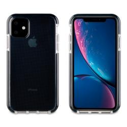 muvit Tiger funda Soft Apple iPhone 11 shockproof 2m transparente + borde negro
