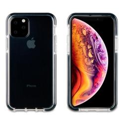 muvit Tiger funda Soft Apple iPhone 11 Pro Max shockproof 2m transparente + borde negro