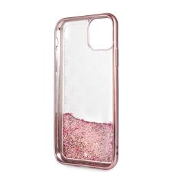 Guess carcasa Apple iPhone 11 PC+TPU glitter rosa dorado