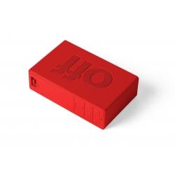 Lexon Reloj Despertador Flip+ Goma Roja