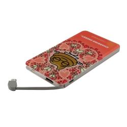 Kukuxumusu power bank 5000 mAh USB 1A cable USB-Micro USB + adaptador Lightning Yocaca rosa
