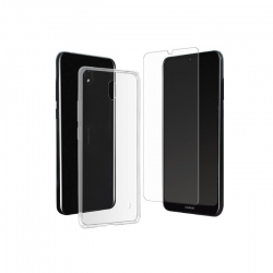 muvit pack Nokia 2.2 funda Cristal Soft transparente + protector pantalla vidrio templado plano
