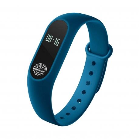 Myway pulsera de actividad con monitor de ritmo cardíaco azul