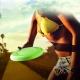 Frisbee Bluetooth IP4 con altavoz integrado verde