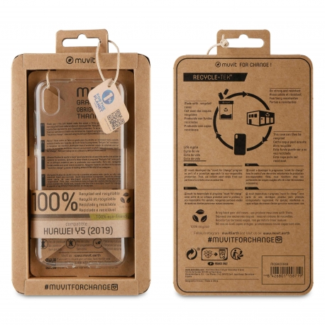 muvit for change funda Huawei Y5 2019 recycletek transparente