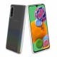 muvit pack Samsung Galaxy A90 5G funda Cristal Soft transparente + protector pantalla vidrio templado plano marco negro