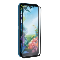 muvit protector pantalla LG K40S vidrio templado plano marco negro