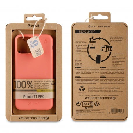 muvit for change funda Apple iPhone 11 Pro recycletek living coral