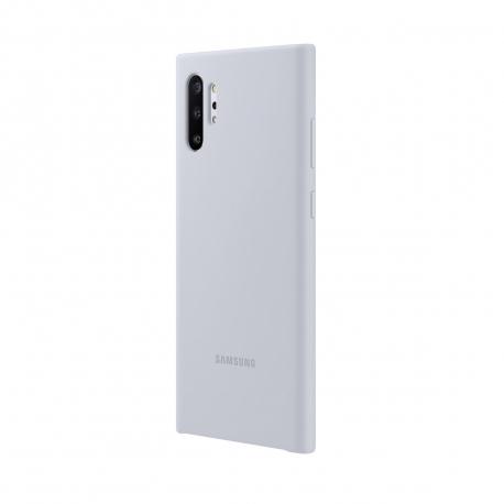 Samsung carcasa Samsung Galaxy Note 10 Plus silicone cover plata