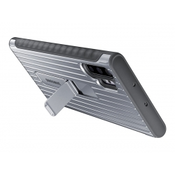 Samsung carcasa Samsung Galaxy Note 10 Plus standing cover plata