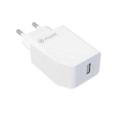 muvit for change transformador USB 2.4A 12W blanco