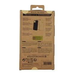 muvit for change pack Samsung Galaxy S10 Lite funda recicletek + protector de pantalla vidrio templado plano marek negro