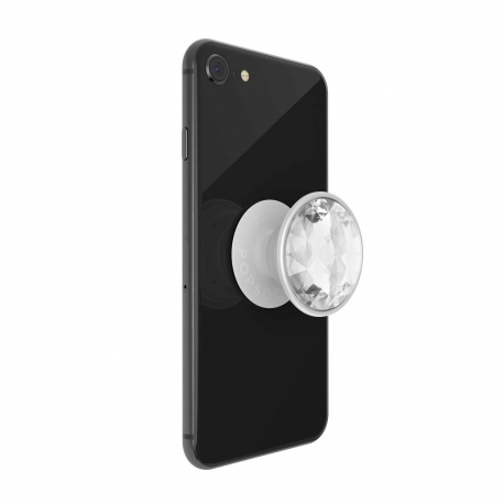 PopSockets soporte adhesivo Disco Crystal Silver