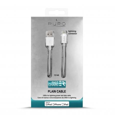Puro cable USB-Lightning MFI 2.1A 1,5m blanco