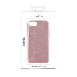 Puro funda shine Apple iPhone 6/6s/7/8 Rosa Oro