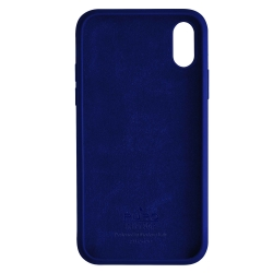 Puro funda silicona con microfibra Apple iPhone XS Max icon azul