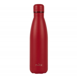 Puro Icon botella de acero inoxidable doble pared 500ml roja
