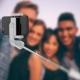 Puro palo selfie Bluetooth con trípode gris