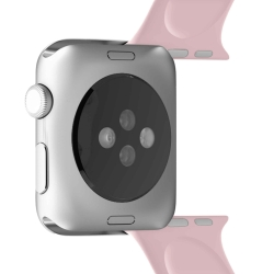 Puro pack 3 correas silicona Apple watch 42-44mm S/M y M/L rosa
