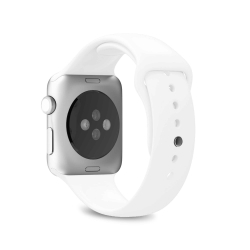 Puro pack 3 correas silicona Apple watch 38-40mm S/M y M/L blanco