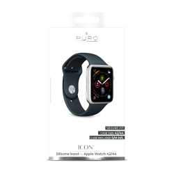 Puro pack 3 correas silicona Apple watch 42-44mm S/M y M/L azul