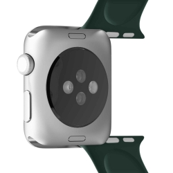 Puro pack 3 correas silicona Apple watch 42-44mm S/M y M/L verde oscuro