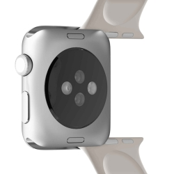 Puro pack 3 correas silicona Apple watch 42-44mm S/M y M/L gris