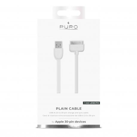 Puro cable USB- Apple 30 Pin 1m blanco