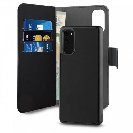 Puro funda piel Eco Samsung Galaxy S20 + carcasa extraíble magnética negra
