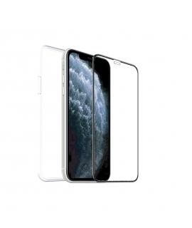 muvit for change pack Apple iPhone SE/8/7 funda recicletek + protector de pantalla vidrio templado plano