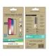 muvit for change protector pantalla iPhone 11/XR vidrio templado plano marco negro antibacteriano