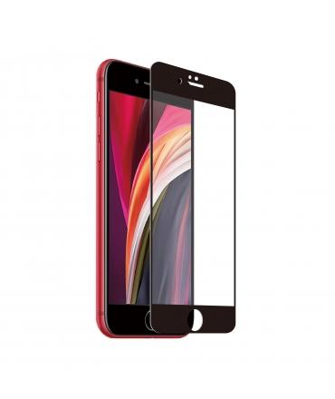 muvit for change protector pantalla iPhone SE/8/7 vidrio templado plano marco negro antibacteriano