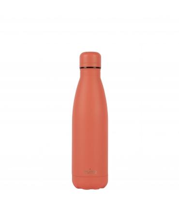 Puro Icon botella de acero inoxidable doble pared 500ml coral