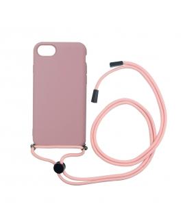 muvit life carcasa Apple iPhone SE/8/7 con colgante pink candy