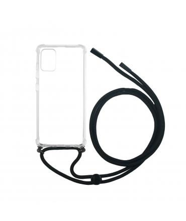 Carcasa Samsung Galaxy A71 con colgante transparente muvit life