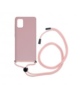 muvit life carcasa Samsung Galaxy A51 con colgante pink cnady