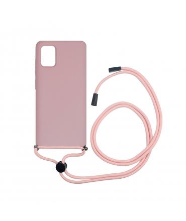 Carcasa Samsung Galaxy A51 con colgante pink cnady muvit life