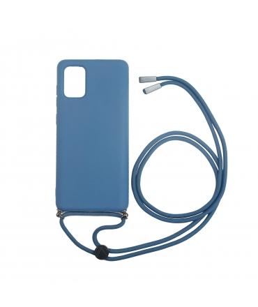 Carcasa Samsung Galaxy A71 con colgante dark blue Candy muvit life