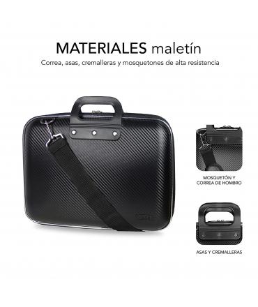 """Subblim Maletin Portatil EVA Carbon 15,6"""" Negro"""