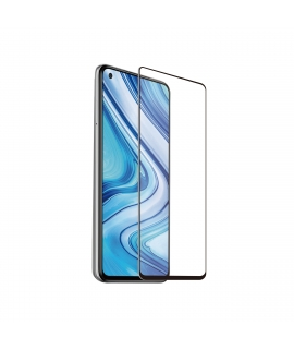 muvit protector pantalla Xiaomi Redmi Note 9 vidrio templado plano marco negro