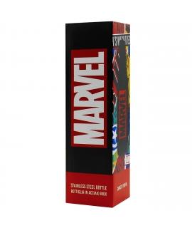 Puro Marvel botella de acero inoxidable 750ml logo negro