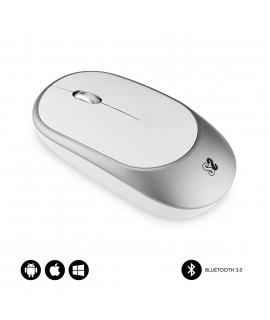 Subblim Smart ratón Bluetooth plata/blanco