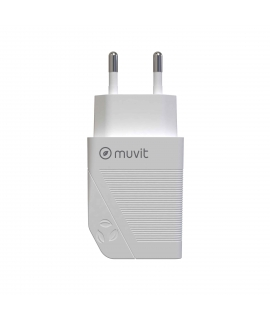 muvit for change pack transformador USB 2.4A 12W + cable lightning MFI 2.4A 1,2m blanco